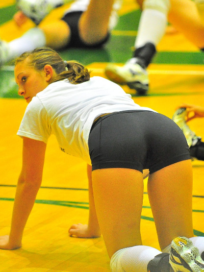 naked volleyball player asses